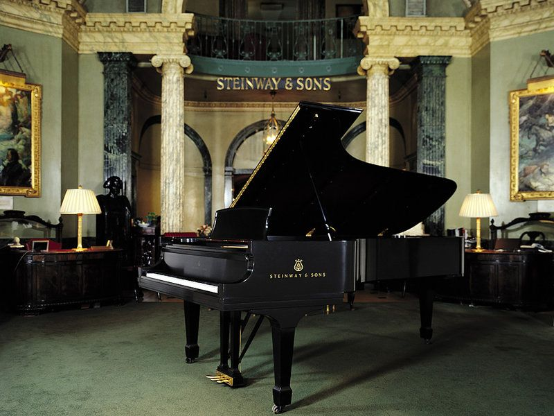 The rotunda at the historic Steinway Hall in Manhattan. The building will be torn down to build luxury condominiums. Steinway & Sons