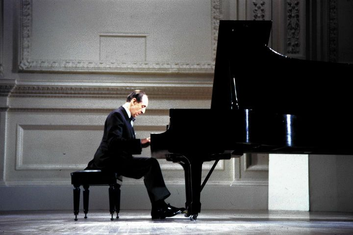 Vladimir Horowitz at the Carnegie Hall concert in 1965.