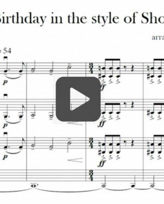happy birthday shostakovich style