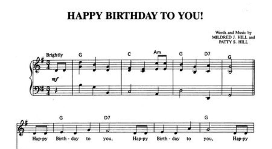 Happy Birthday Song Ruled Out of Copyright