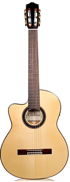 Cordoba GK Studio Negra Left-Handed [Gipsy Kings Signature Model] Acoustic Electric Nylon String Flamenco Guitar
