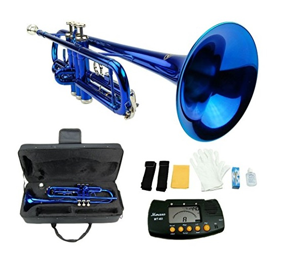 Merano Bb Blue & Silver Trumpet Kit
