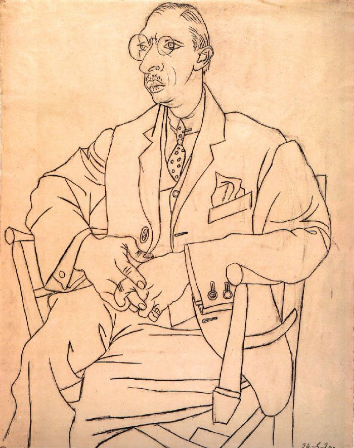 Portrait of Igor Stravinsky by Pablo Picasso, 1920