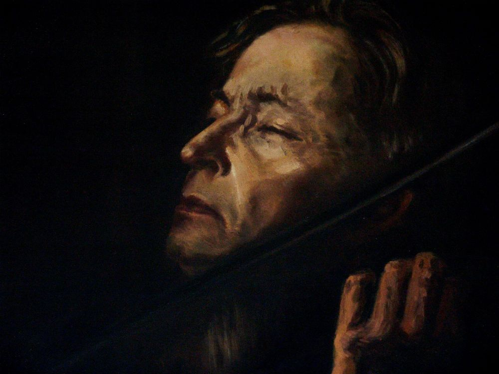 George Enescu Romanian Composer painting