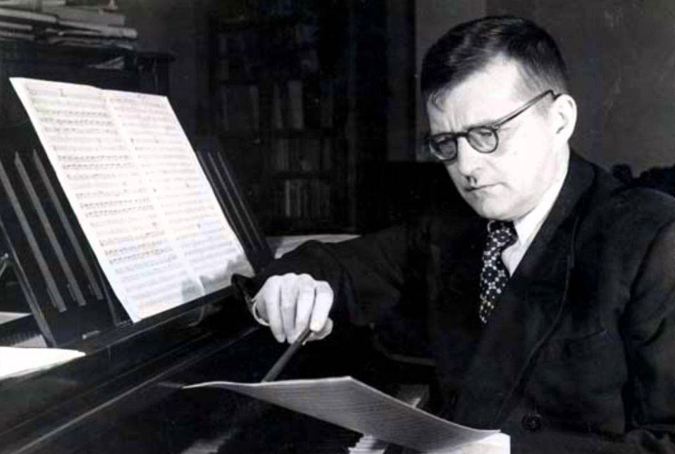 Shostakovich at the piano