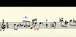 What does laughter look like written out as sheet music