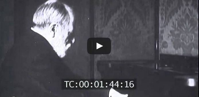This rare film footage is showing the great composer Camille Saint-Saëns wonderfully in action!