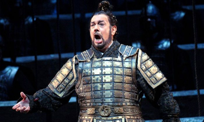 As a Chinese emperor in the world premiere of Tan Dun's opera The First Emperor which opened at New York's Metropolitan Opera House in December 2006