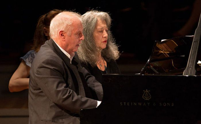 Daniel Barenboim and Martha Argerich piano duo