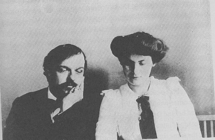 Debussy and his wife
