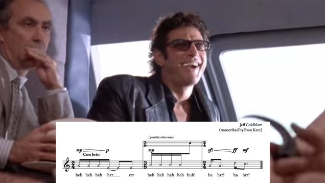 jeff goldblum weird laugh sheet music