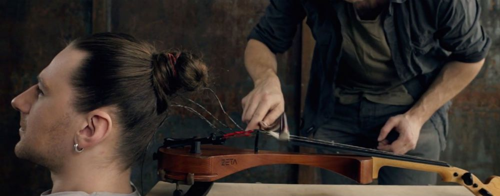 violin strung with human hair