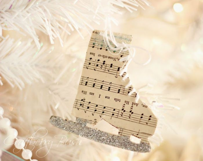 musical notes skate christmas ornaments