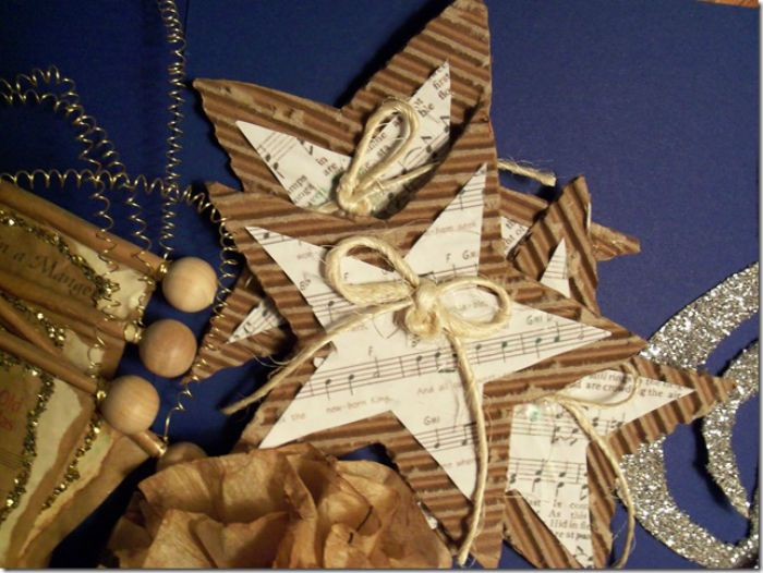 five pointed star sheet music craft