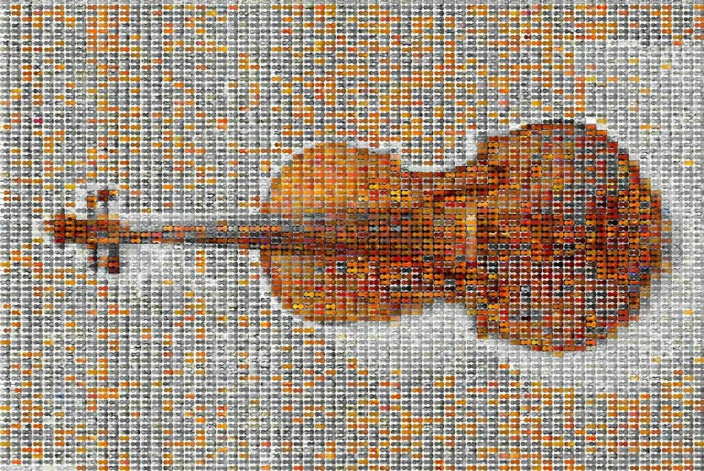 A mosaic of more than 5,000 violin images that the researcher examined in the study. Credit: Daniel Chitwood