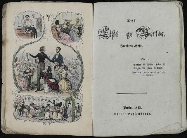 """The Liszt-ge Berlin"" - the tenth edition of the ""Berliner jokes"", 1842"