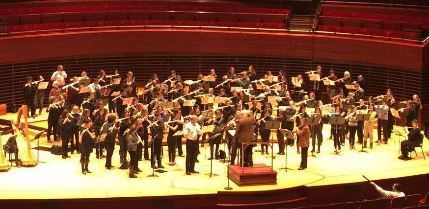 philadephia orchestra 100 flutes