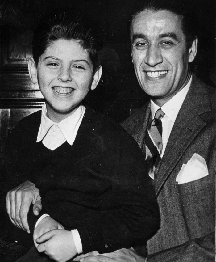 Daniel Barenboim and Sergiu Celibidache in Buenos Aires 1954.