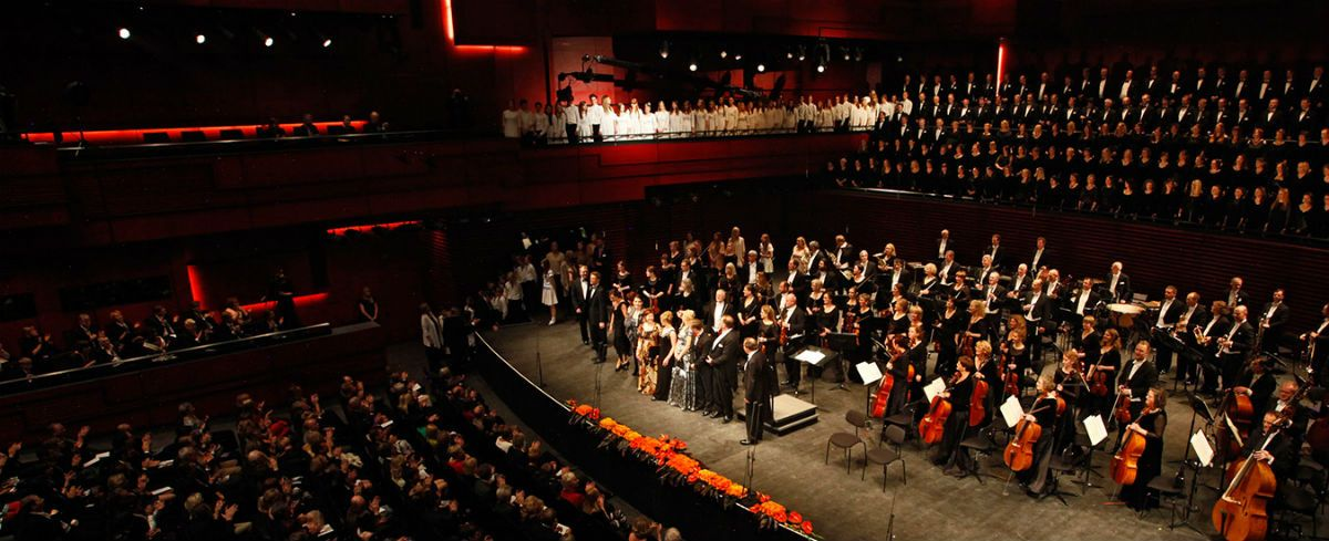 The Iceland Symphony Orchestra play at their new home, Harpa, in Reykjavik. Photo courtesy of en.harpa.is