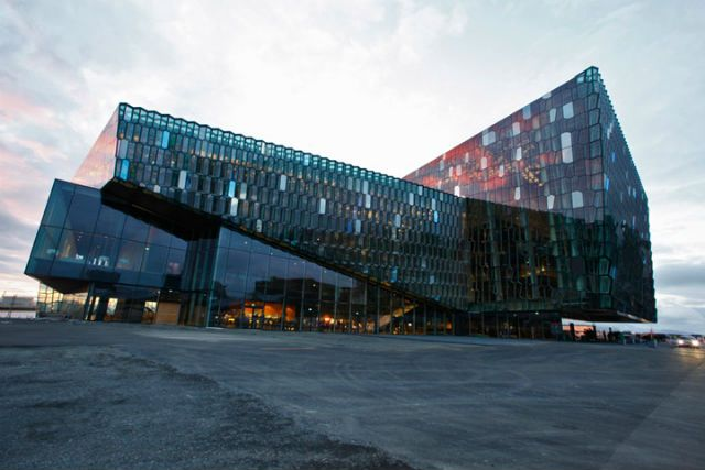 The new concert hall in Iceland's capital, Reykjavik - Photo courtesy of en.harpa.is