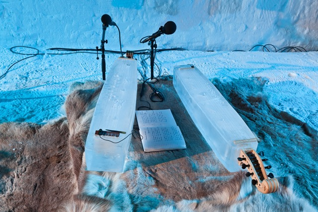 Ice Music Festival Geilo bass made of ice