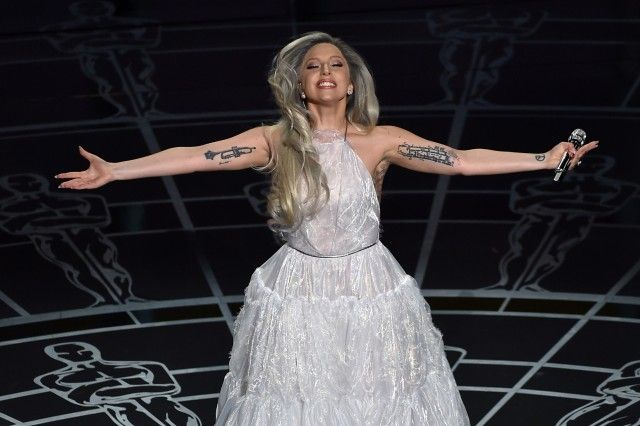 Lady Gaga Performing a Tribute to The 'Sound of Music' at the Oscars. Photo: Getty Images