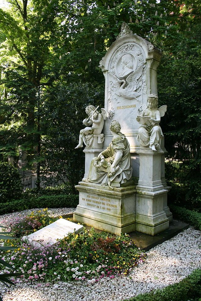 Robert and Clara Schumann's Grave in Bonn, Germany