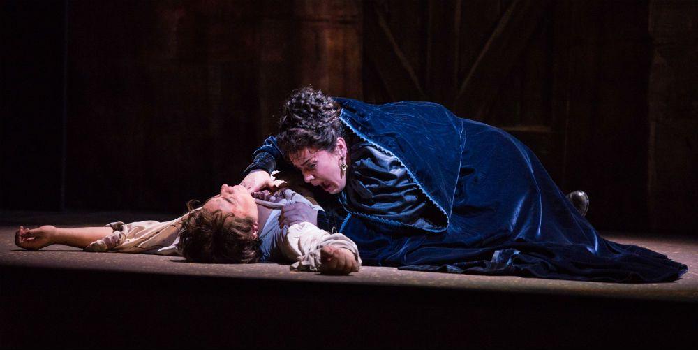 Stefano Secco (Mario Cavaradossi) and Ausrine Stundyte (Floria Tosca) in Puccini's Tosca
