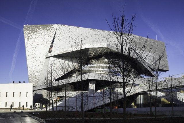 The new philharmonic concert hall in Paris opened early last month.