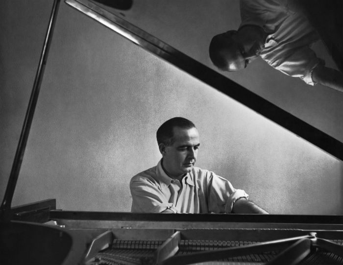 Samuel Barber at the piano
