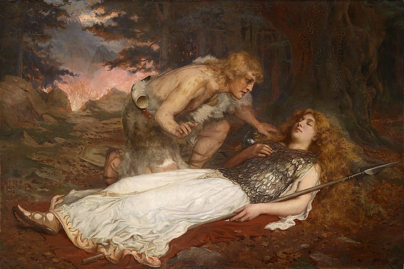 Siegfried and Brunnhilde painted by Charles Ernest Butler,1909