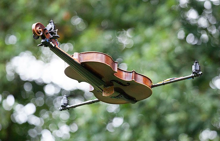 Violincopter: The World's First Flying Violin