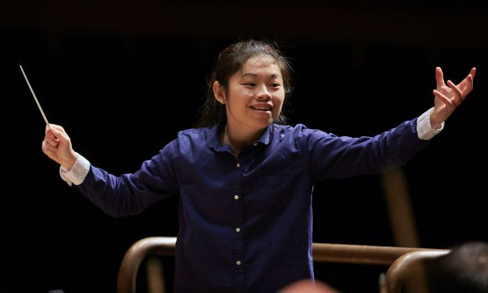 Elim Chan at the Donatella Flick LSO Conducting Competition