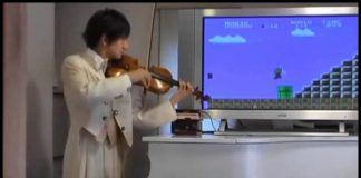 Violinist Plays Along to Super Mario Bros