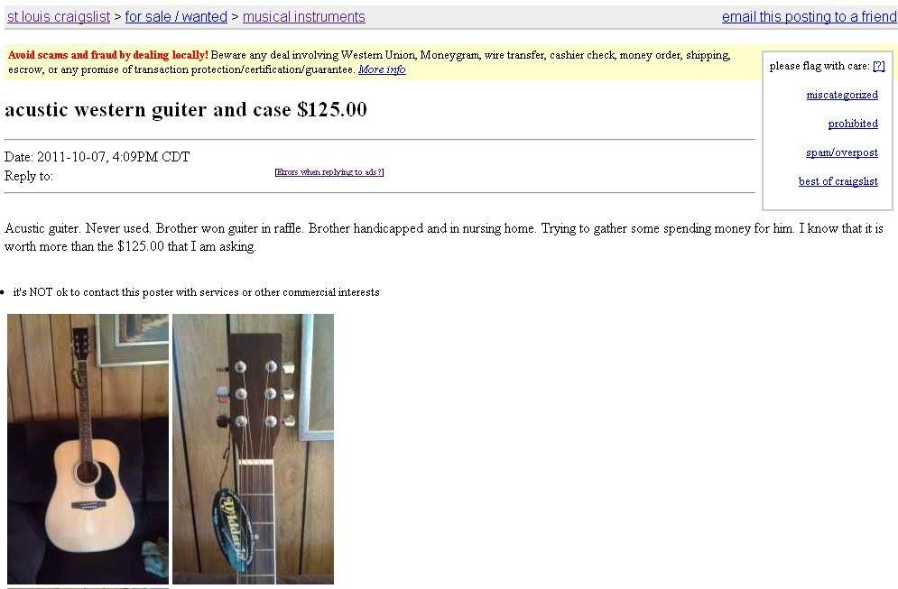 acustic western guitar