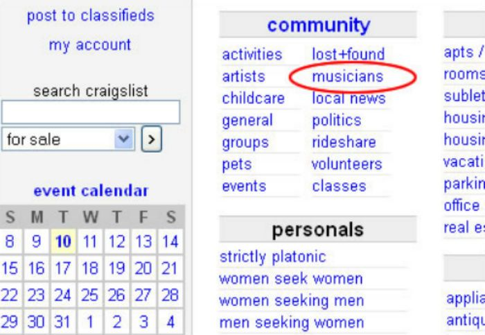 craigslist musicians funniest ads