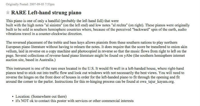 left hand piano