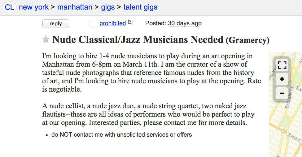 nude classical musicians
