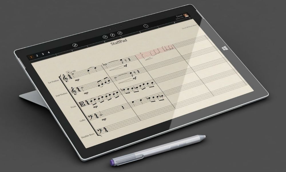 StaffPad musical notation software