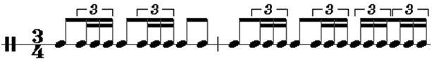 Bolero rhythm pattern