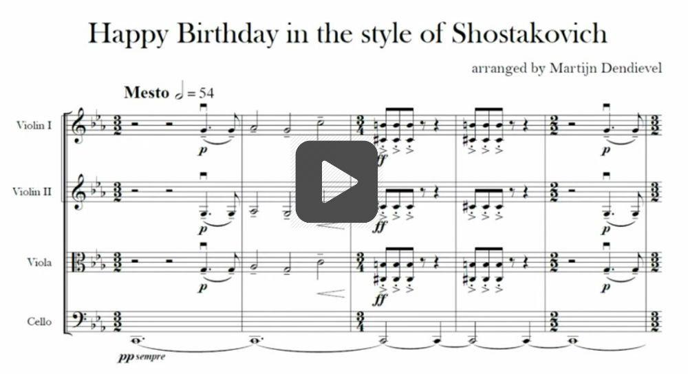 happy birthday shostakovich style