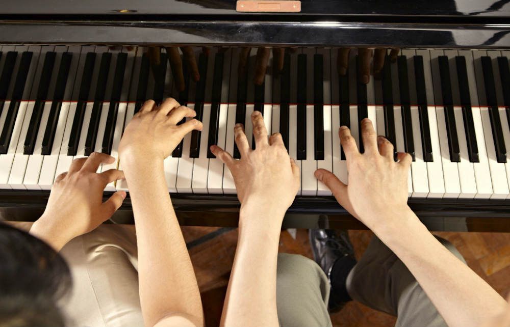music teacher hands