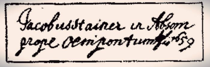 Jacobus Stainer label