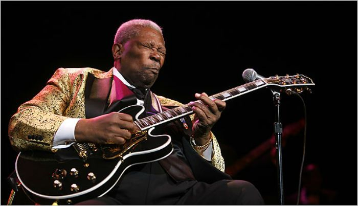 B.B. king and his beloved Lucille