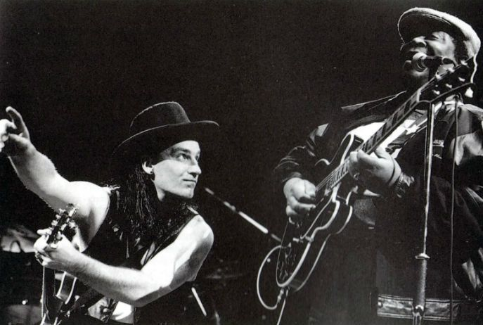Bono with BB King