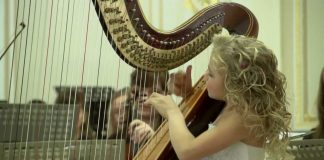 Little Angel Playing the Harp