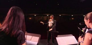 Musicians performed Ode To Joy with their babies