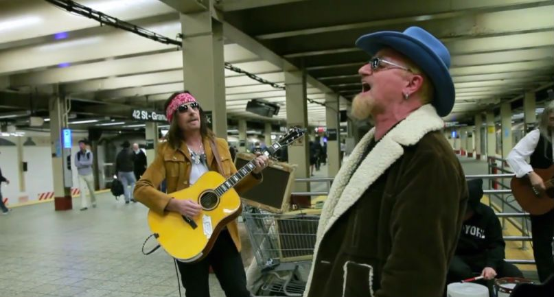 U2 in disguise NYC Subway
