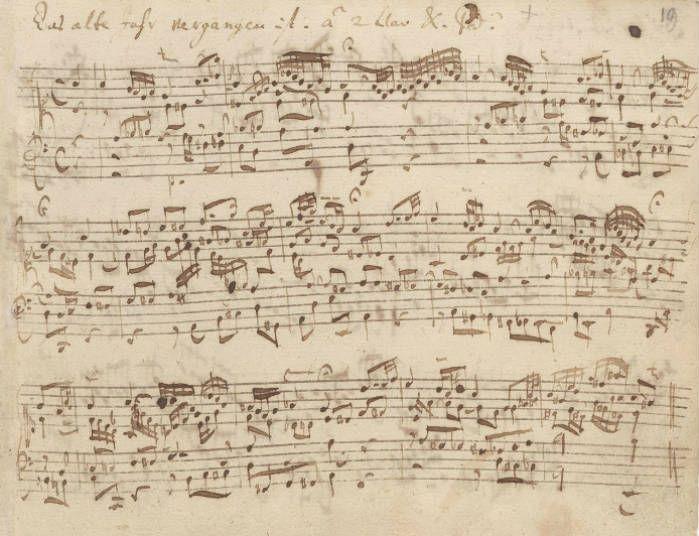 Bach's original manuscript of Das alte Jahre vergangen ist, BWV 614