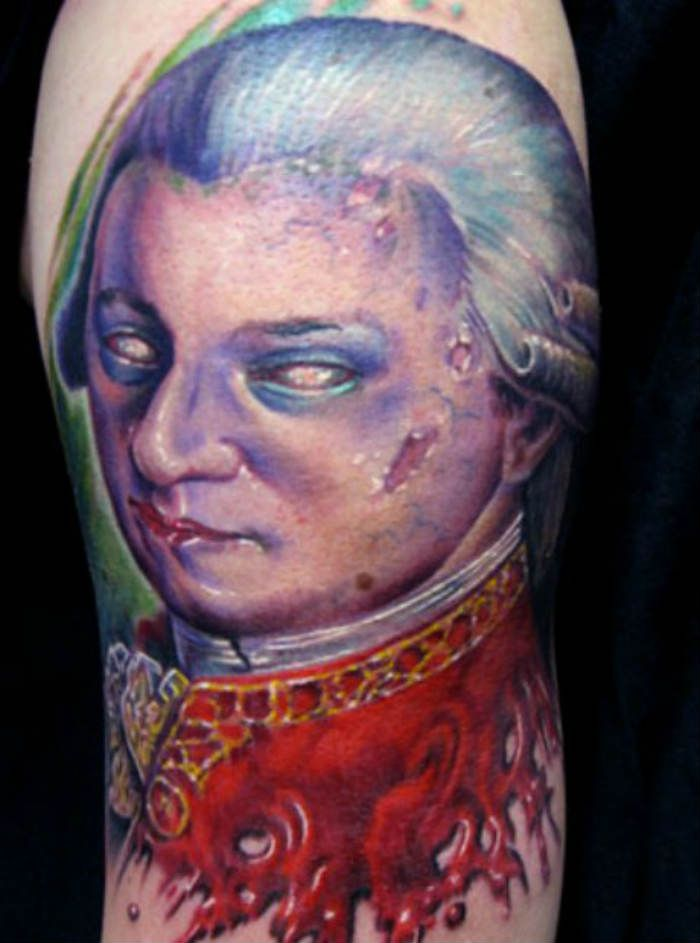 decomposing mozart tattoo